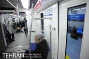 مسافران بدون ماسک مترو تهران تذکر میگیرند