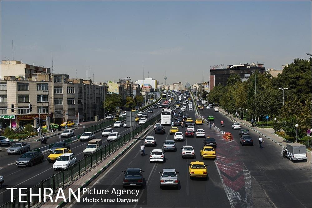 افزایش ترافیک پایتخت در پنجم مرداد