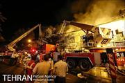 اعزام ۶ ایستگاه آتش نشانی به آتش سوزی غرب تهران