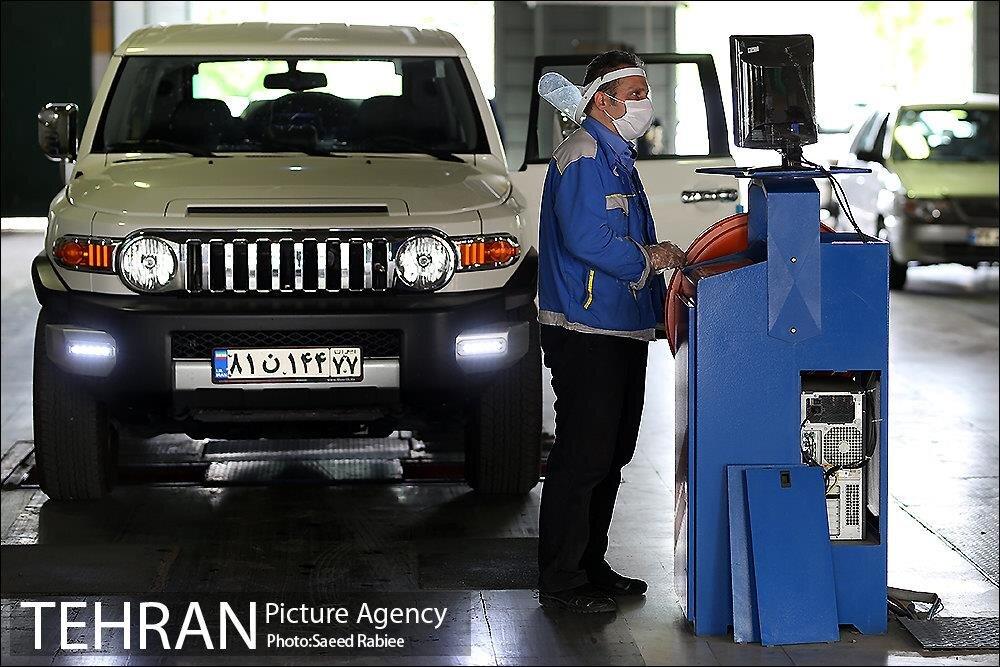 مراجعه ۱۱ هزار دستگاه خودرو به مراکز معاینه فنی با پذیرش اینترنتی