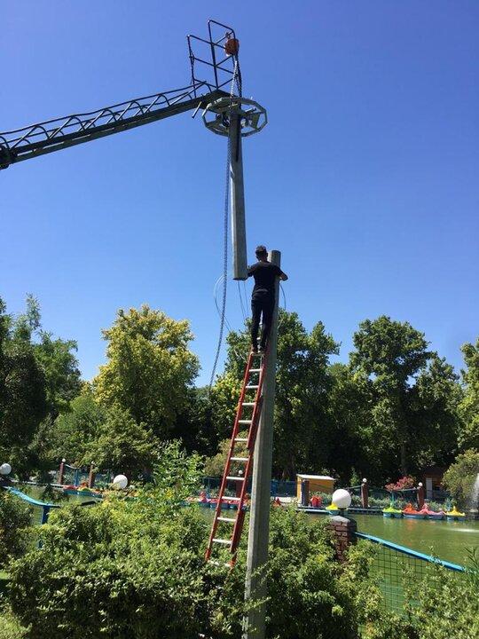 مصرف بهینه انرژی و تقویت حیات شبانه در بوستان شهر منطقه 12 انجام شد