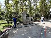 مجسمه «ما» به بوستان لاله برگشت