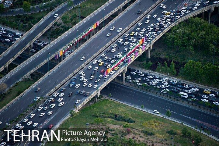 کاهش ترافیک پایتخت پس از تعطیلات ۶ روزه