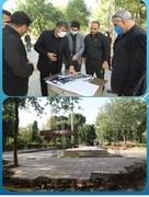 پیشرفت ۴۰ درصدی ساخت المان مقبره شهدای بوستان گلزار