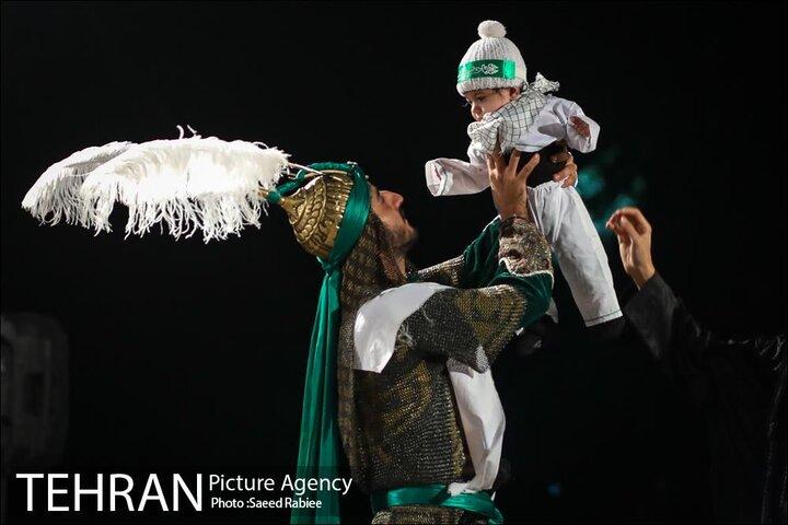 تعزیه خوانی اباعبدالله الحسین(ع) در بوستان لاله