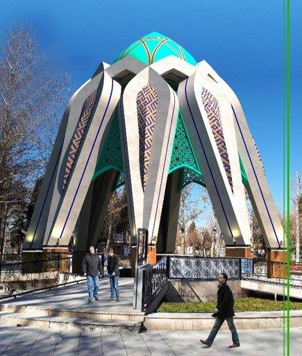 طراحی یکی از فاخرترین یادمان شهدای گمنام در منطقه ۴