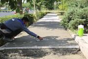 بهسازی معابر منطقه ۱۵ با اجرای پیاده رو سازی