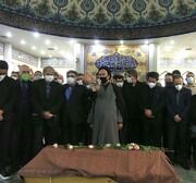 نماز استاد شجریان در بهشت زهرا خوانده شد