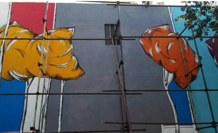 نقاشی های علی در پاتوق سیمین