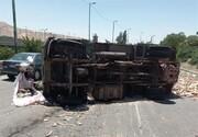 تصادف کامیونت با خاور در بزرگراه شهید یاسینی