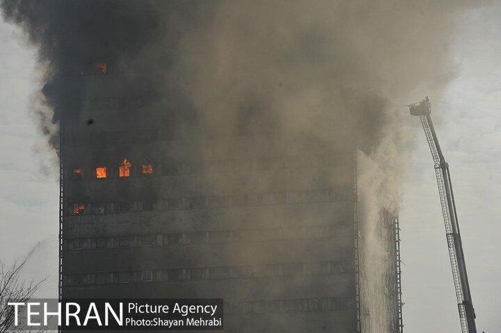 ورود ایمنی  به تهران و تجهیزات به آتش نشانی پس از حادثه پلاسکو