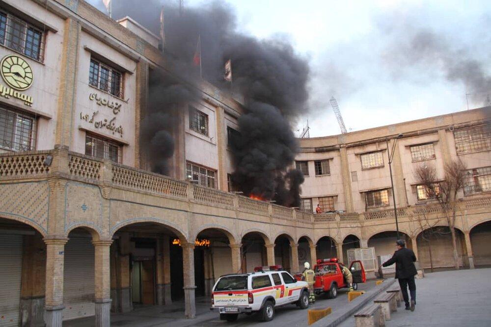 مانور عملیاتی حریق ناشی از زلزله در بازار بزرگ تهران