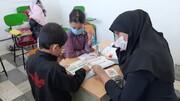 آموزش کودکان بازمانده از تحصیل در محدوده کوه گچی