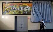 نصب یک اثر هنری جدید در مترو