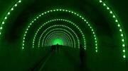 بزرگترین تونل نوری ایران در بوستان نهج البلاغه اجرا شد
