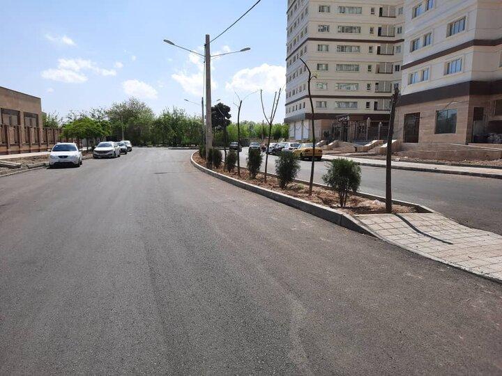 بهسازی و روکش آسفالت ۹۰ هزار مترمربع معابر شهری