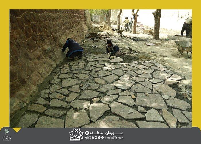 اتمام پروژه بهسازی مسیر امامزاده شعیب در محله کن