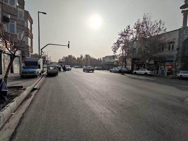 محور خاوران در منطقه ۱۴ تهران بهسازی شد