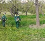 اقدامات پیشگیرانه آتش سوزی در بوستانهای منطقه ٢