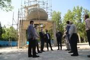 پیشرفت ۸۵ درصدی ساخت المان مقبره شهدای بوستان گلزار