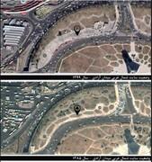 احیای فضای سبز میدان آزادی