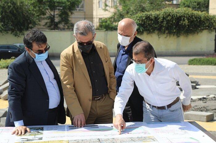بازدید مدیران شهری از پروژه باغ راه حضرت فاطمه (س)