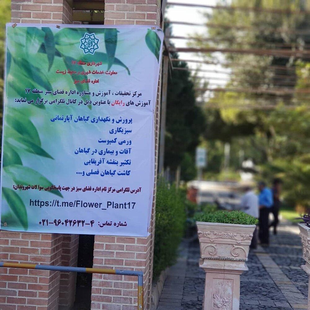 مشاوره های رایگان گیاهپزشکی در منطقه ۱۷