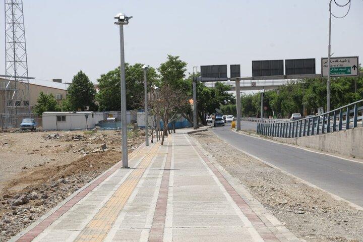 گشایش ترافیکی در محله بلورسازی
