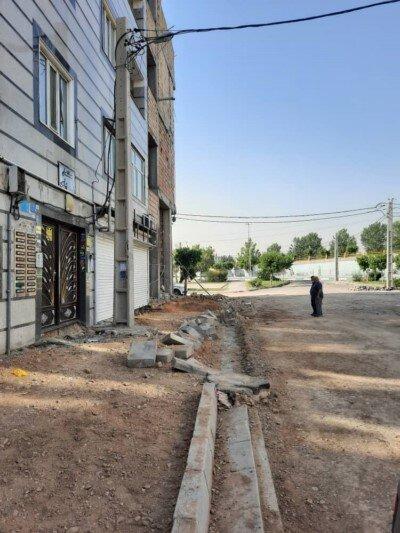 اجرای بهسازی خیابان شهید عاصی تهرانی