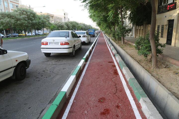 ایمن سازی ۱۱ کیلومتر مسیر دوچرخه سواری منطقه ۱۵