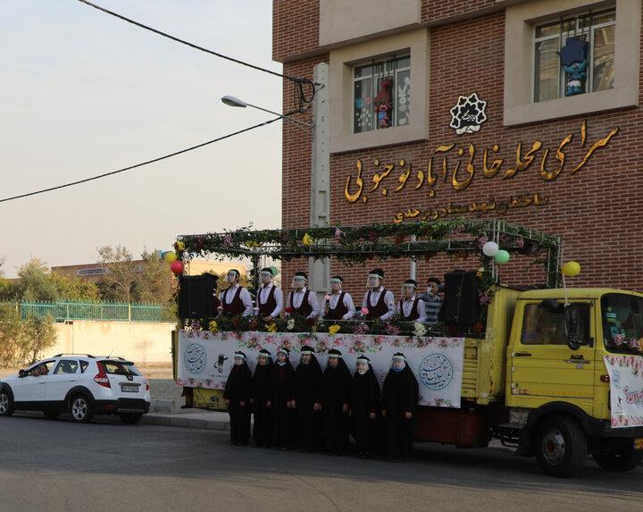 حرکت کاروان سیار جشن بندگی در جنوب تهران