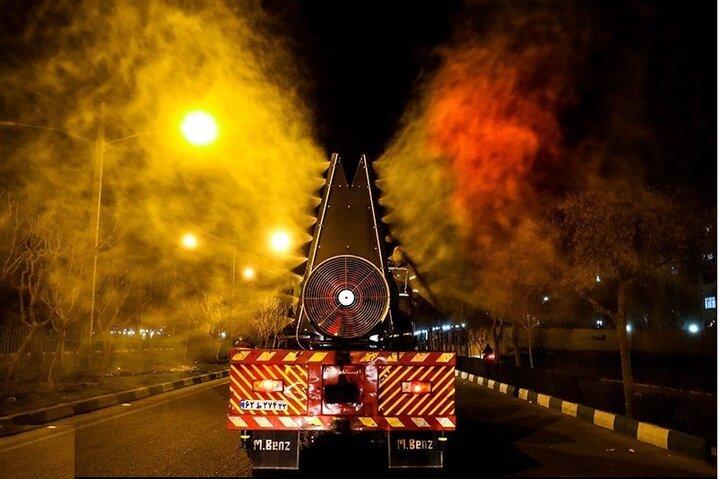 الگوبرداری شهرهای کشور از خودرو ضد عفونی آتش نشانی