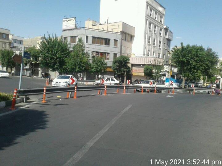 افزایش ایمنی و آرام سازی ترافیکی در یکی از تقاطع های پرتردد منطقه ۱۹