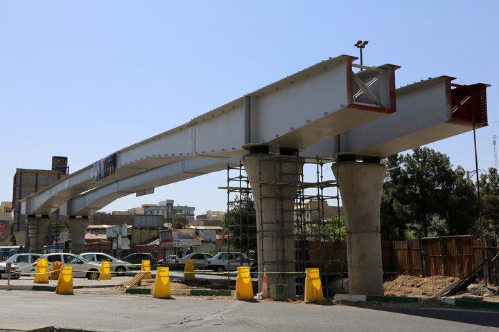 پیشرفت ۵۰ درصدی پروژه تقاطع غیر همسطح بزرگراه شهید باقری با خیابان فرجام