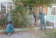 بازپیرایی فضای سبز ۲۰ مدرسه در محدوده منطقه ۱۵