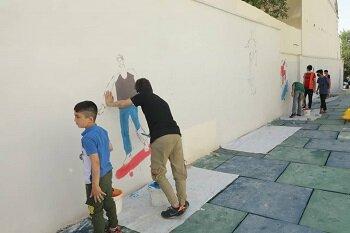 رنگ آمیزی دومین کوچه دوستی در محله اسلام آباد