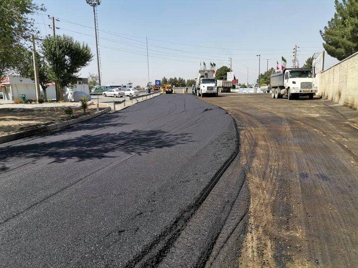 اجرای عملیات بهسازی عوارضی تهران قم