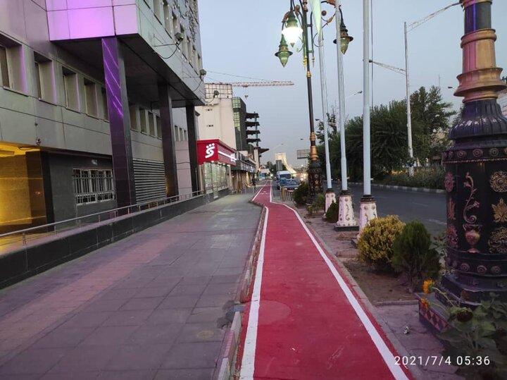تکمیل رینگ دوچرخه سواری در خیابان آزادی
