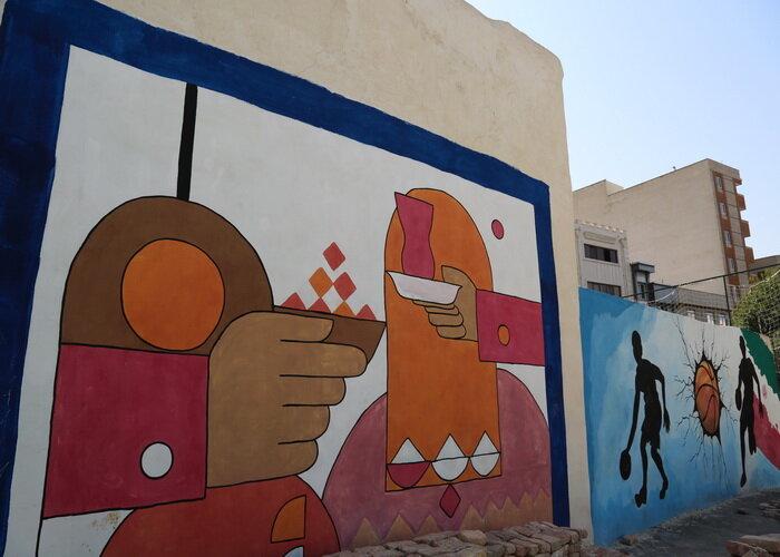 آغاز حذف نقاط بی دفاع شهری با زیباسازی دیوارها