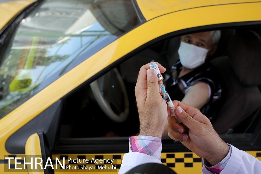 آغاز واکسیناسیون رانندگان تاکسی تهران