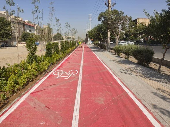 احداث ۵۷۰۰ متر مسیر دوچرخه در منطقه ۹