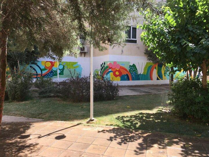 اجرای نقاشی دیواری طبیعت در دو بوستان منطقه ۱۹
