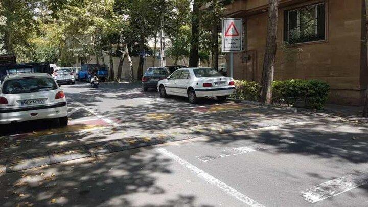 خیابان هدایت در منطقه ۳ تهران ایمن سازی شد