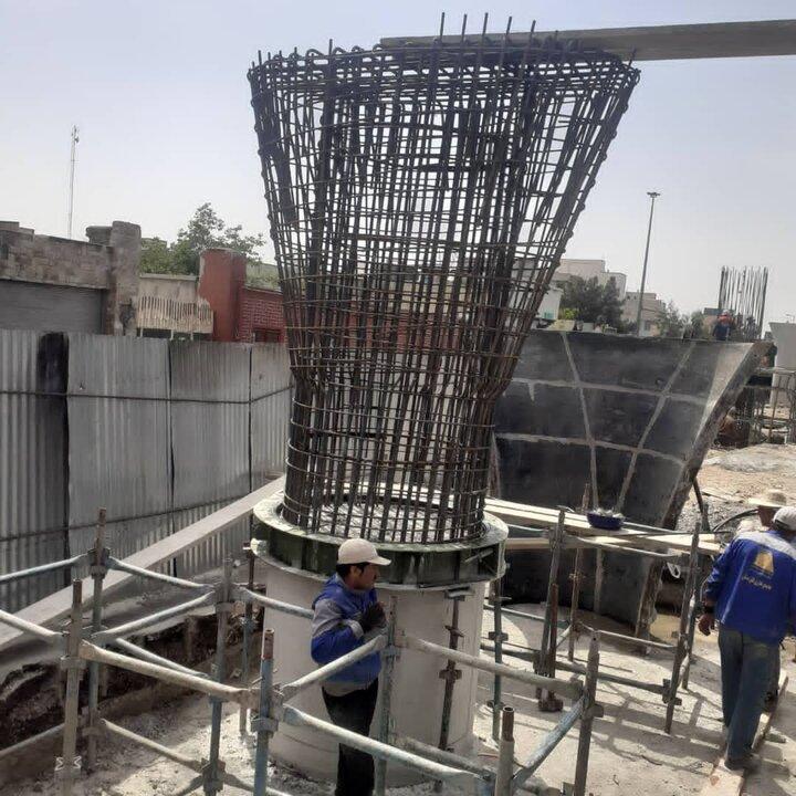 پیشرفت  ۷۰ درصدی پروژه تقاطع غیر همسطح بزرگراه شهید باقری با فرجام