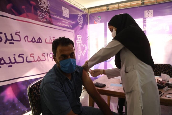 واکسینه شدن کارکنان شهرداری منطقه ۱۷