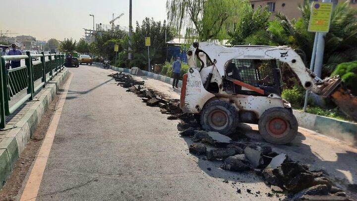 اصلاح هندسی ایستگاه تاکسی خیابان آزادی تا پایان مهر ماه