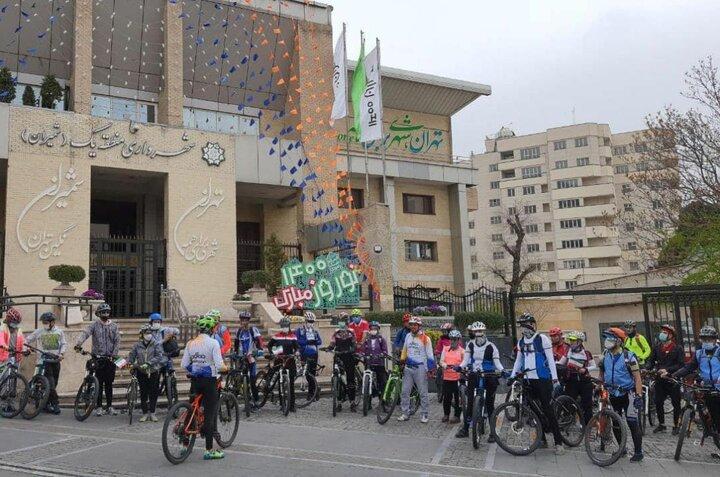 مسیر دوچرخه سواری در نیاوران و اندرزگو اجرا می شود