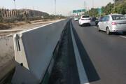 نصب نیوجرسی و بهسازی گاردریل در بزرگراه شهید یاسینی منطقه۱۳