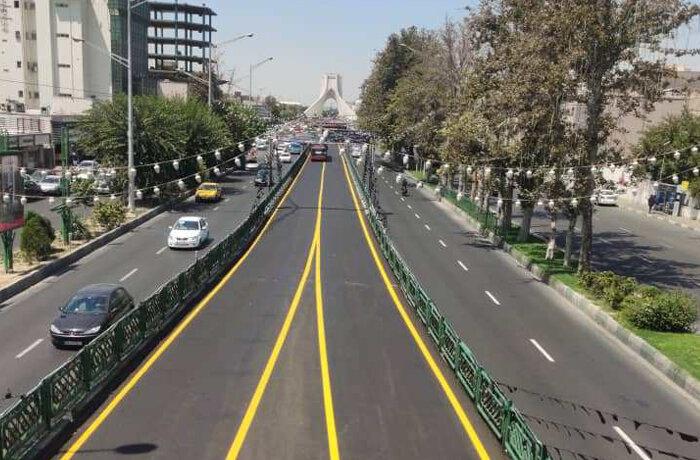 ۹۵۰۰ تن آسفالت ریزی به وسعت ۱۰۲ هزار متر مربع در غرب تهران