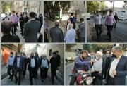 بازدید صبحگاهی مدیران شهری از محله ابوذر شرقی